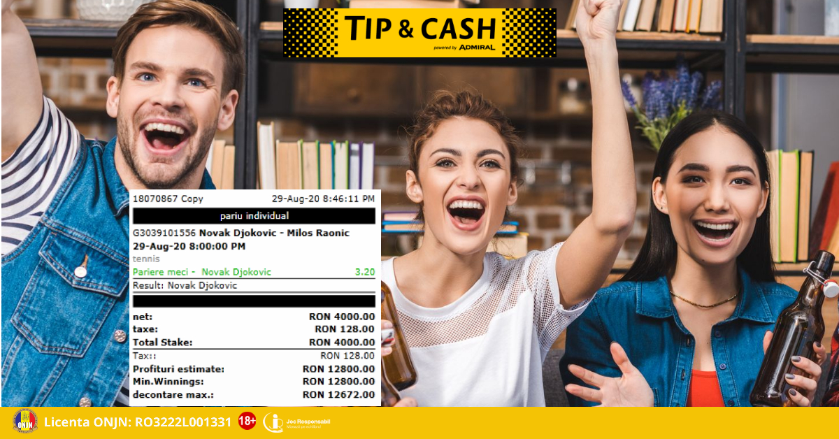 Castig bilet TIP&CASH
